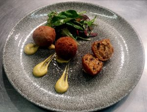 bbq pulled pork and clonakilty black pudding arancini